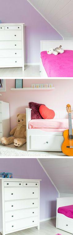 Kinderzimmer Deko Mit Rosa Und Violet Farben Und Ikea Hemnes #hemnes  #pastell #kinderzimmer