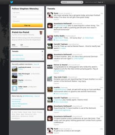 Point To Point Twitter list