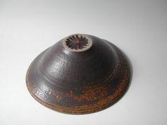 Yellow-Dark Brown Dripping Glazed Bowl by YumikoKugaPottery