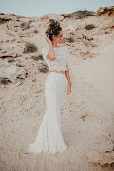 Bohemian Bridal Separates Wedding Dress #bride #bridalseparates #bohochic #bohemianwedding #weddingdress