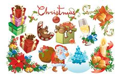 Christmas Design Elements Vector Ball Band Bell - Download free ...