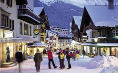 The picturesque ski village of St. Anton in Austria.