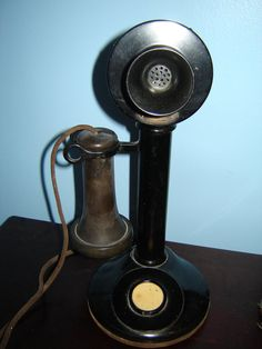 Antique American Tel and Tel Candlestick Telephone and by MISSREX, $245.00