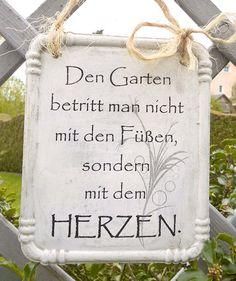 Gartendekoration - Garten Schild aus Beton  - ein Designerstück von PapillonDesign bei DaWanda