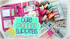 Cute Planner Supplies Haul! Where to find the cutest supplies online!