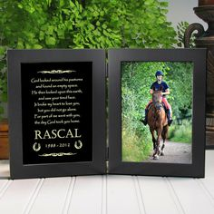 Personalized Horse Memorial Frame by etchedinmyheart1 on Etsy https://www.etsy.com/listing/191384200/personalized-horse-memorial-frame