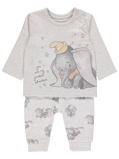 Grey Disney Dumbo Sweatshirt and Joggers Outfit Baby Outfits Newborn, Baby Boy Outfits, Kids Outfits, Baby Clothes Uk, Disney Baby Clothes Boy, Baby Dumbo, Baby Alive Food, Baby Life Hacks, Joggers Outfit