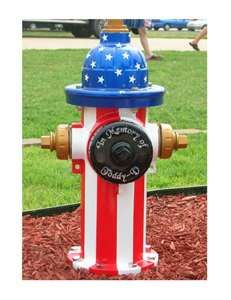 painted fire hydrants