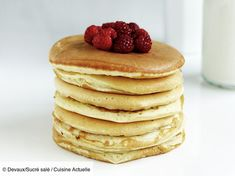 Easy pancakes … # gluten-free # pancakes # desserts – www.cuisineactuel … Easy pancakes … # gluten-free # pancakes # desserts – www. Gluten Free Pancakes, Pancakes Easy, Vegan Pancakes, Patisserie Sans Gluten, Dessert Sans Gluten, French Crepes, Crepe Recipes, Cooking Time, Gluten Free Recipes