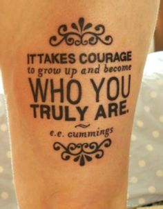 The Uniqueness of Being: Tattoosday: Literary Inspirations