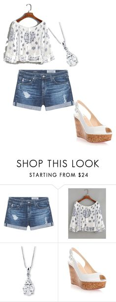 """""""summer"""" by taylorlaw-1 on Polyvore featuring beauty, AG Adriano Goldschmied, WithChic and Christian Louboutin"""