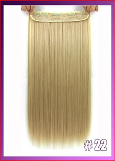 "24""(60cm) 120g straiht clip in hair extensions hairpiece hair pieces accessories color #22 Light Honey Blonde $6.00"