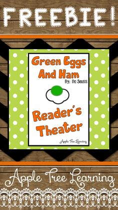 FREE Dr. Seuss Green Eggs and Ham Reader's Theater!  Perfect for Read Across America Day! #readacrossamerica #reading #reader'stheater #readerstheater #teacher