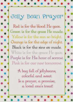 Jelly Bean Prayer Free Easter Printables