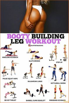 Home Fitness Bodybuilding - Booty Building Leg Workout! - Home Fitness Bodybuilding – Booty Building Leg Workout! Fitness Workouts, Leg Workouts For Men, Fitness Motivation, Fitness Routines, Fitness Workout For Women, Body Fitness, Ab Workouts, Workout Videos, Physical Fitness