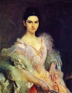 1895 John Singer Sargent (American expatriate artist, 1856-1925)  Etta Dunham  It's About Time