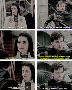 mary and bash #Reign #3x15 #SafePassage