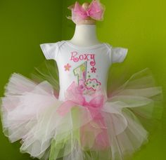 Customized birthday tutus at www.toocutebirthday.com (they have boy options too!)