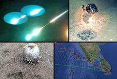 """Desconhecido """"objeto espacial"""" ilumina o céu sobre Chita, Rússia - 2ª e 3ª bola 'UFO' e WT1190F"""