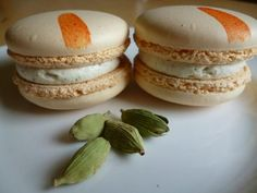 Orange and cardamom macarons. All natural colours and local freerange eggs.