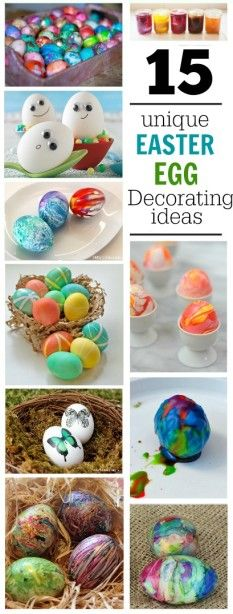 15 Unique Easter Egg Decorating Ideas your kids will love - Housing a Forest