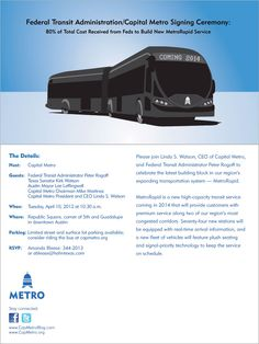 """http://www.roadsbridges.com/fta-provides-38-million-grant-austin-texas-bus-project """"Federal Transit Administrator Peter Rogoff delivered a $ 38 million grant to the Capital Metropolitan Transportation Authority of Austin, Texas, on Tuesday, which will go toward CMTA's new MetroRapid bus project."""""""