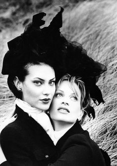 Shalom Harlow & Kristen McMenamy for Chanel by Karl Lagerfeld.