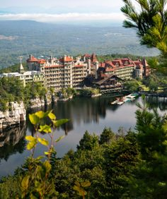 I love this place. It's where I met & fell in love with my husband (30+ years ago). We visited briefly this summer. A magical day.  Mohonk Mountain House in New York's Shawangunk Range. #monogramsvacation