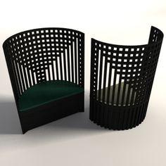Willow chair by Charles Rennie Mackintosh Mackintosh Chair, Mackintosh Furniture, Mackintosh Design, Art Nouveau Furniture, Design Furniture, Chair Design, Vintage Furniture, Charles Rennie Mackintosh, Modern Interior
