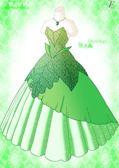 Green Hope - May by Neko-Vi.deviantart.com on @deviantART is anyone else getting the taste of mint in their mouth by looking at this dress?  or a craving for mint chocolate chip ice cream?