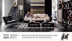 #Koln, #Natuzzi-Flagship-Store: exklusive #Vespa geschenkt!    Besuchen Sie den Natuzzi-Flagship-Store in Köln...    Verwirklichen Sie Ihren Wohnzimmertraum …    und Sie bekommen eine exklusive Vespa geschenkt!    Fragen Sie im Store nach den genauen Bedingungen. Die Aktion läuft vom 15.06.2012 bis zum 30.07.2012.