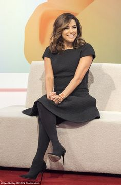 Friendly talk: Eva Longoria gushed about her close friendship with Victoria Beckham during an appearance on ITV's Loose Women on Tuesday Victoria Beckham Smile, Eva Longoria Style, Pantyhose Outfits, Pantyhose Fashion, Scarlett, Eva Mendes, Dani, Celebs, Celebrities