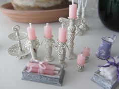 *Images only*  Using various beads and findings to create candlesticks. Glue together they paint a single color.