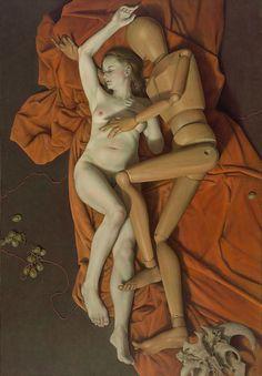 Schlafende Ariadne by Michael Triegel, mixed media on canvas, 2010