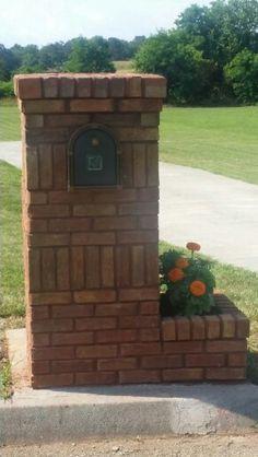 New brick mailbox