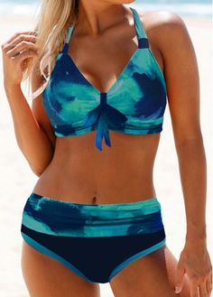 Womens Plus Size Bathing Suits,Jchen Plus Size Floral Print Bowknot Swimsuits Tummy Control Swimdress with Briefs Two Piece Tankini Bathing Suit Swimwear for Women