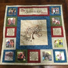 Family Tree Quilt, Family Tree Wall, Tree Quilt Pattern, Quilt Patterns, Quilting Ideas, Quilting Projects, Foto Quilts, Hanging Family Photos, Hanging Pictures