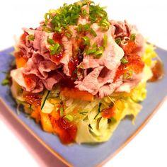 ゆずポン酢をジュレにしてかけました♡ - 52件のもぐもぐ - 山盛り豚しゃぶサラダ by himapu