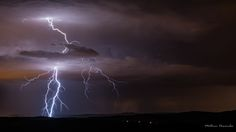 Photograph Lightning blue by Mathieu Descombes on 500px
