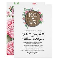Rustic Country Florals Chic Wedding Card - spring wedding diy marriage customize personalize couple idea individuel