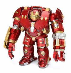 "This 5 1/2"" Hulkbuster figure from the Artist Mix line comes preequipped with a jackhammer arm but also has a regular left arm in the package in case you'd rather display him with that.   - Non-articulated figure with a bobble-head - Designed by TOUMA - Features an interchangeable regular left arm"