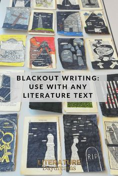 Blackout Writing with a twist