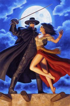 Greg Hildebrandt has just finished the final painting of Zorro. This piece was commissioned by Dynamic Forces for a Zorro Comic Cover Issue which will be in the stores very soon. Created January 2008 Signed by Greg Hildebrandt Comic Book Artists, Comic Artist, Comic Books Art, Superhero Poster, Comic Kunst, Pin Up Art, Conte, Comic Character, Female Art