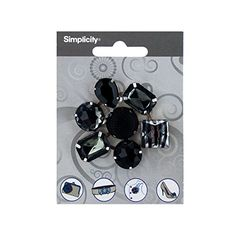 black Faceted Gem Cluster Craft Accent ** Be sure to check out this helpful article. #HairBarrettes