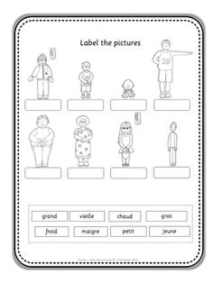 kindergarten beginners french worksheet printable school stuff practicar frances idioma. Black Bedroom Furniture Sets. Home Design Ideas