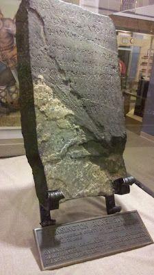 Kensington Runestone at its museum in Alexandria, MN.
