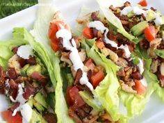 Chicken, Bacon, Avocado, Ranch Lettuce Wraps