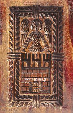 Toruń gingerbread historical mould: Toruń coat of arms