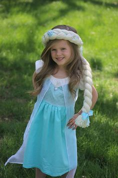 Frozen Elsa Dress up Hair by HairMajestyBoutique on Etsy