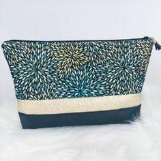 Très grande trousse Gunma lin noir et blanc - Ise & Ca Gunma, Purses, Sewing, Totes, Fabric, Upholstery, Handmade, Bullet Journal, Bags